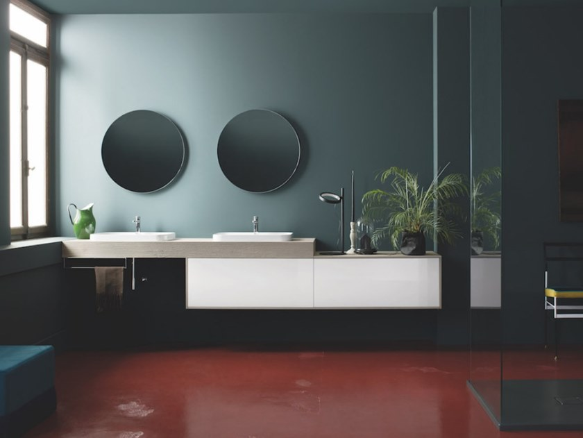 Wall-mounted vanity unit with drawers SKY 197 by Arbi Arredobagno