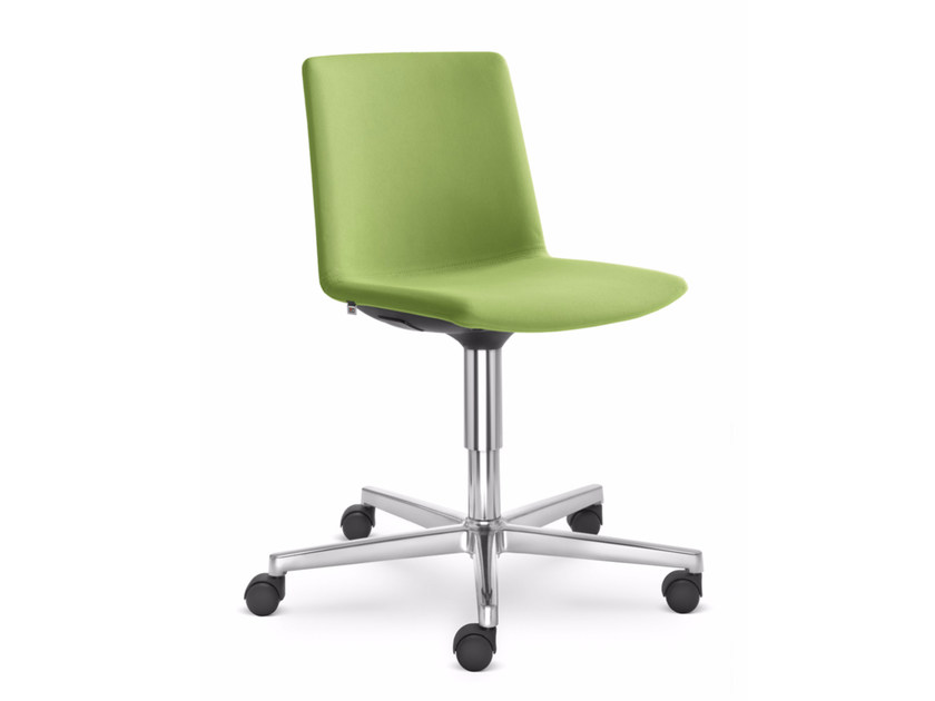 Fabric task chair with 5-Spoke base with casters SKY FRESH 055 F37-N6 by LD Seating