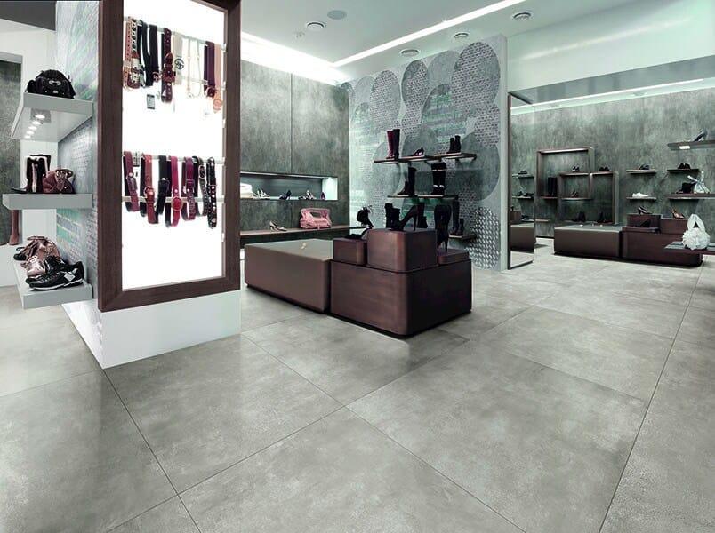 Porcelain stoneware flooring with concrete effect SKYLINE GHIACCIO by AVA Ceramica