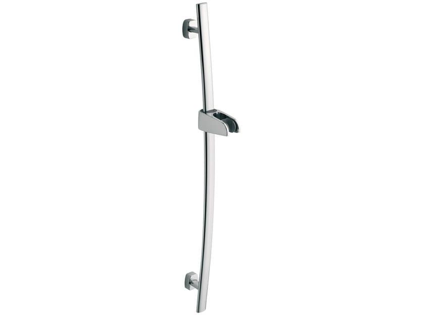 Contemporary style metal shower wallbar FUSION | Brass shower wallbar by AQUAelite