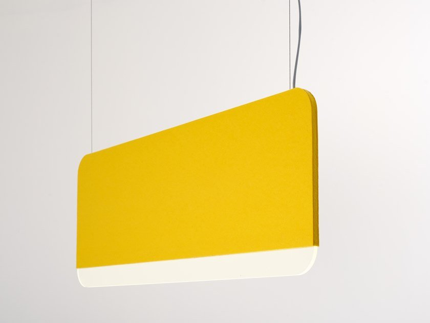 LED felt pendant lamp SLAB 90 by ANDlight