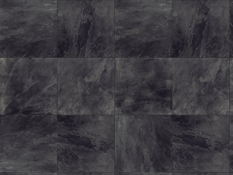 Porcelain stoneware outdoor floor tiles with stone effect SLATE BLACK 3 CM by GRANULATI ZANDOBBIO