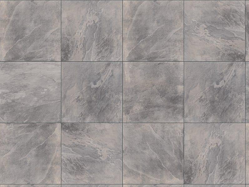 Porcelain stoneware outdoor floor tiles with stone effect SLATE GREY 3 CM by GRANULATI ZANDOBBIO