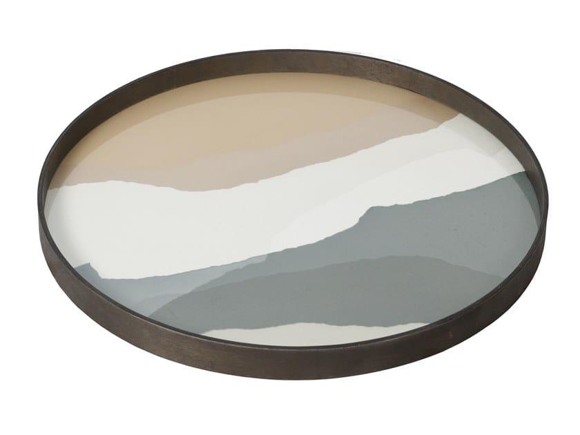 Round glass tray SLATE WABI SABI | Round tray by Notre Monde