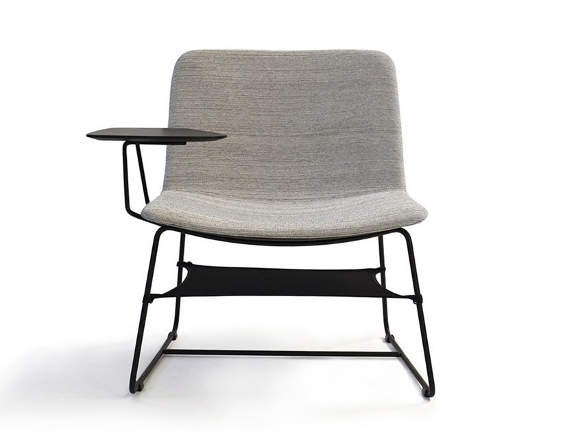 Sled base armchair with writing tablet PETRA | Sled base armchair by MASCAGNI