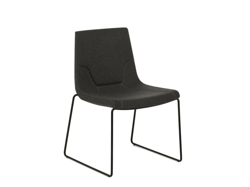 Sled base chair ELLE 48 | Sled base chair by Emmegi