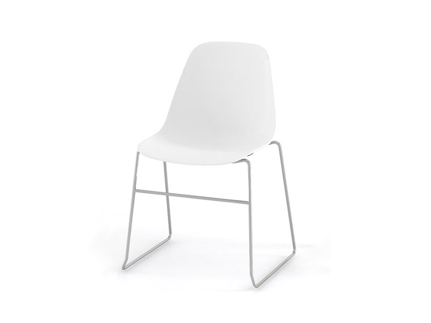 Sled base stackable polypropylene chair POLA | Sled base chair by ESTEL GROUP