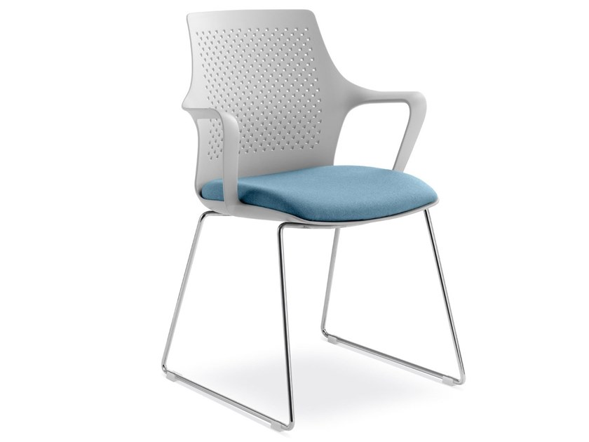 Sled base chair with armrests TARA | Sled base chair by LD Seating