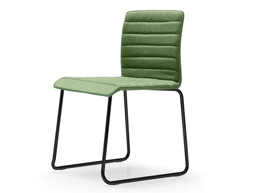Sled base upholstered fabric reception chair RUDY | Sled base chair by Quinti Sedute