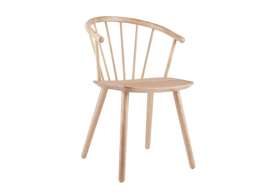 Wooden chair with armrests SLEEK LOW BACK | Wooden chair by Bolia