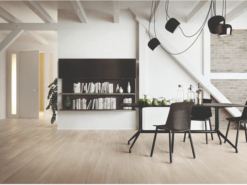 Porcelain stoneware wall/floor tiles with wood effect SLEEK WOOD WHITE by EmilCeramica by Emilgroup