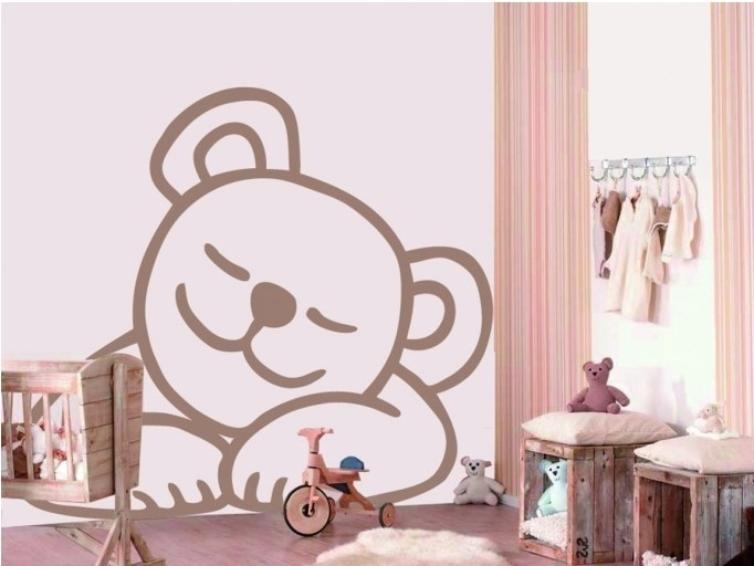 Kids wall sticker SLEEPY TEDDY by ACTE-DECO