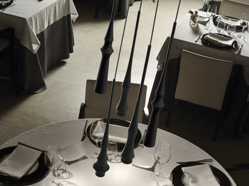 LED aluminium pendant lamp SLEND SET 6 by BOVER