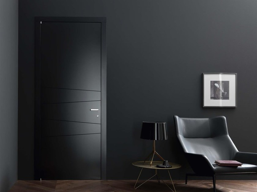 Hinged lacquered door SLICE by Door 2000