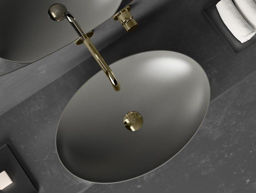 Lavabo da appoggio ovale in Vetro Freddo® SLIDE | Lavabo ovale by Glass Design