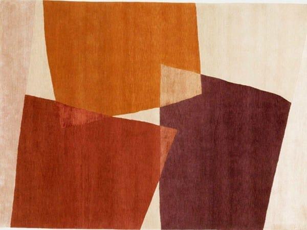 Handmade rectangular rug SLIDES by Deirdre Dyson