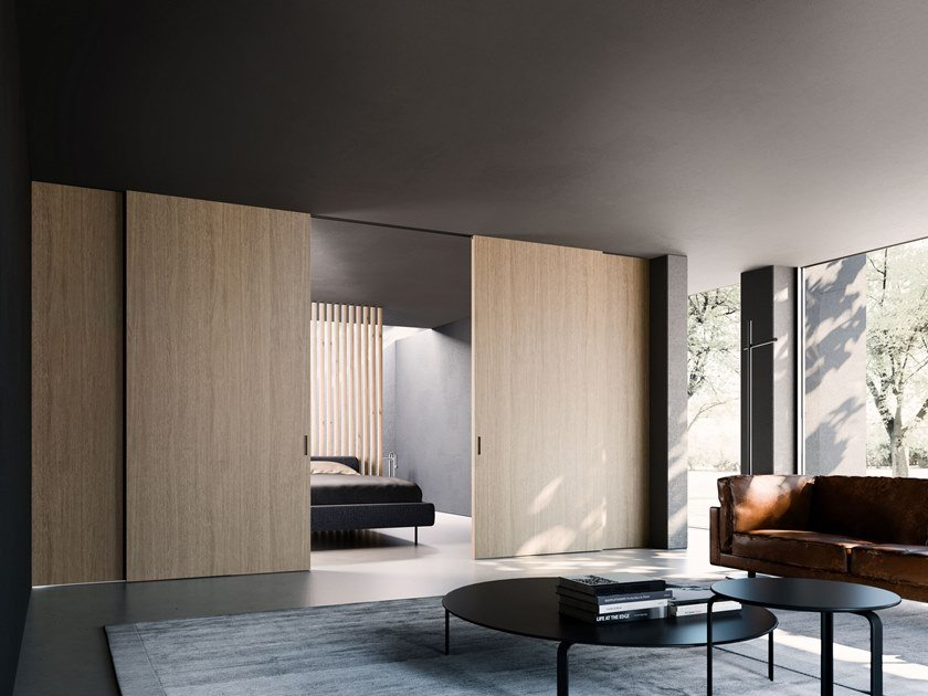 Porta scorrevole in legno ALA | Porta scorrevole by ADIELLE