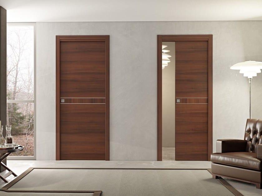 Porta in legno DMT | Porta scorrevole a scomparsa by Pail Serramenti