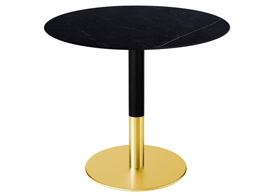 Round iron dining table SLIM-BI   Round table by Vela Arredamenti