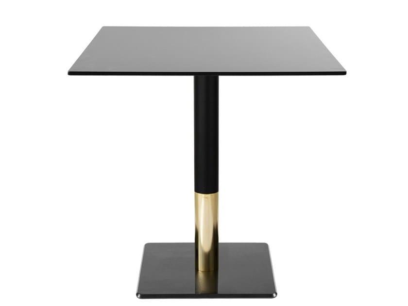 Tavolo da pranzo quadrato in ferro SLIM-BI | Tavolo quadrato by Vela Arredamenti