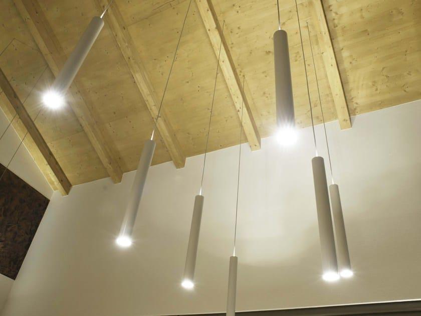LED aluminium pendant lamp CILINDRETTO SLIM by Brillamenti