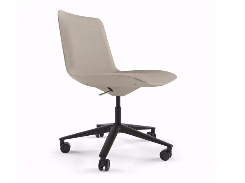 Swivel height-adjustable chair with casters SLIM CONFERENCE LOW 5 - 821 by Alias