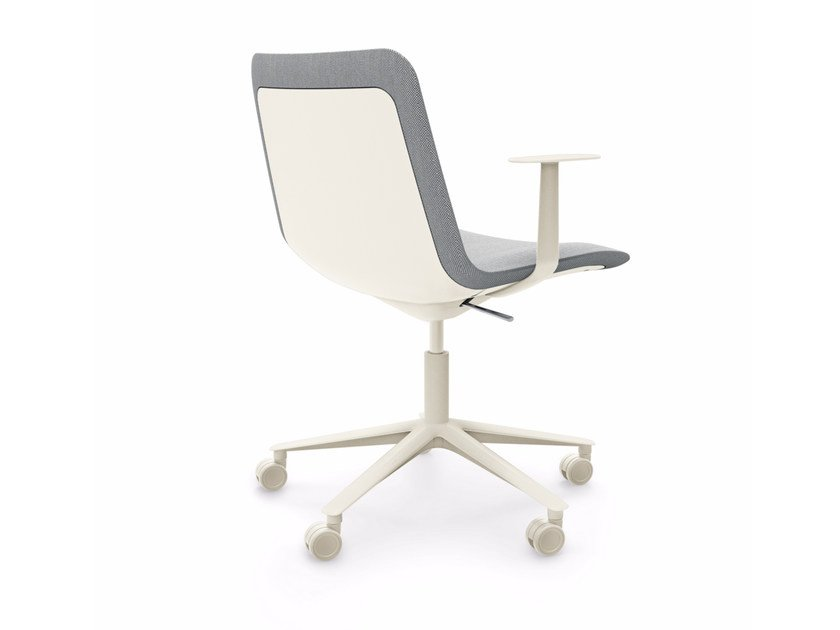 Swivel height-adjustable chair with armrests SLIM CONFERENCE LOW 5 - 822 by Alias