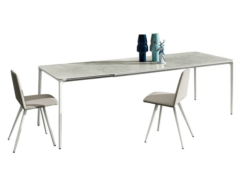 extending ceramic table slim extensible ceramic table by sovet italia - Table Extensible