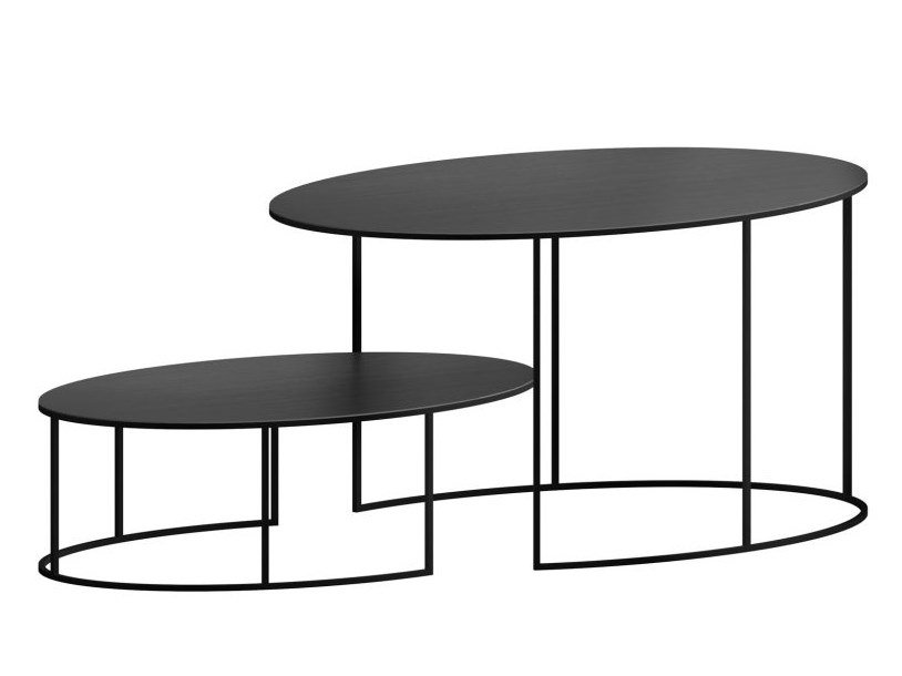 Slim Irony Oval Coffee Table Slim Irony Collection By Zeus Design Maurizio Peregalli