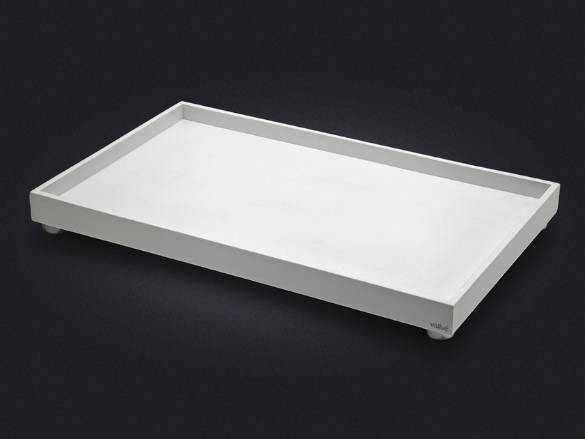 Rectangular resin tray SLIM LARGE by Vallvé