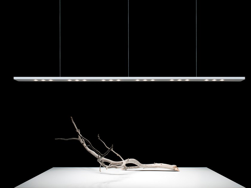 LED Krion® pendant lamp SLIM by Nebón Blanco