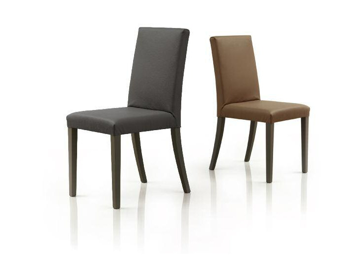Upholstered leather chair SLIM by Papadatos