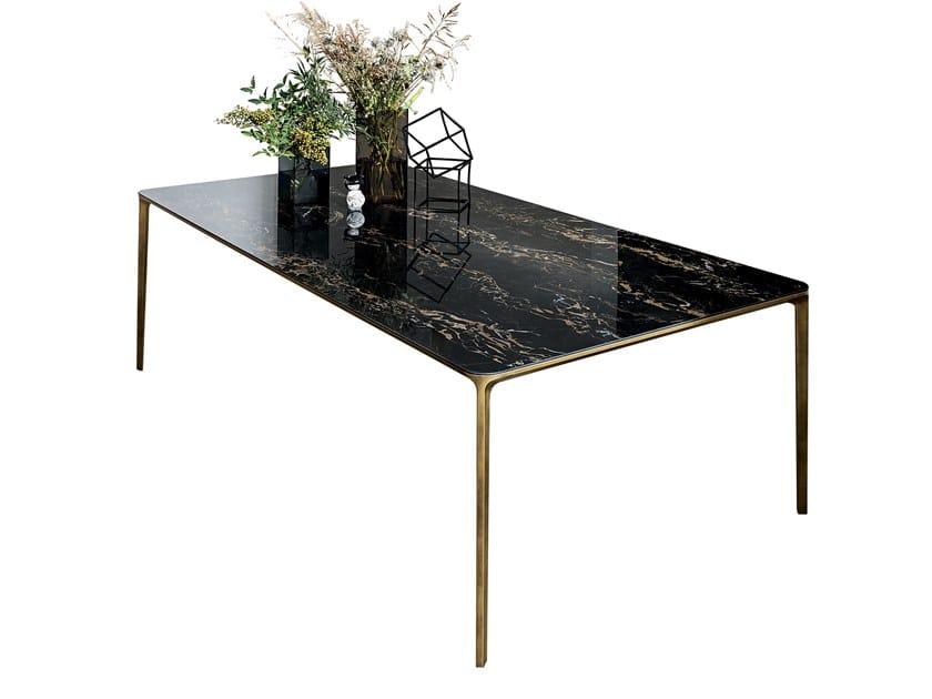 Rectangular Ceramic Table SLIM RECTANGULAR | Ceramic Table By Sovet Italia