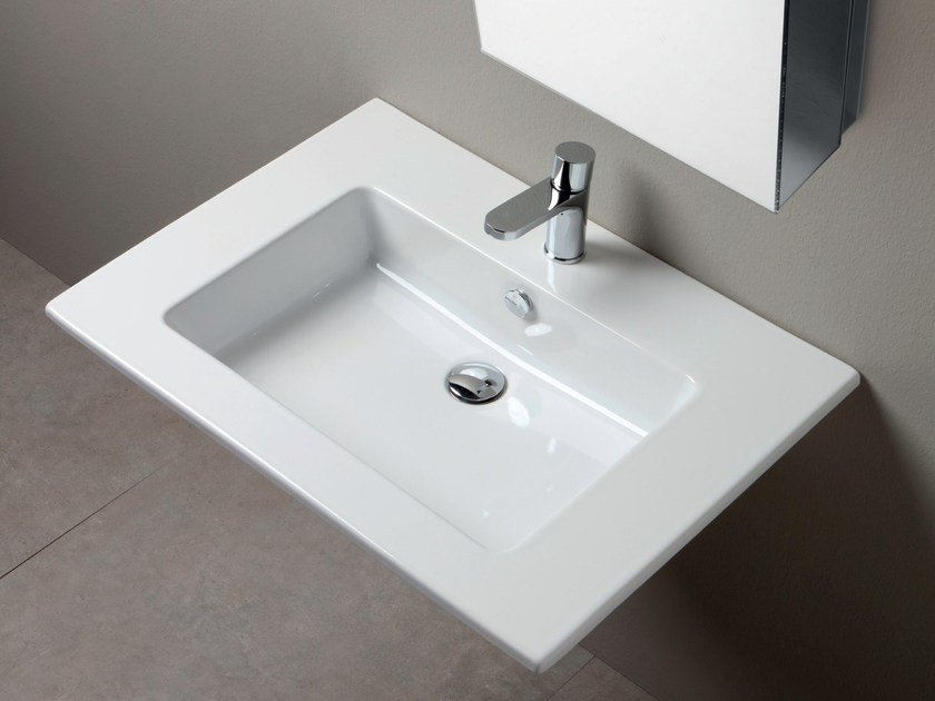 Rectangular single washbasin SLIM | Single washbasin by AZZURRA sanitari