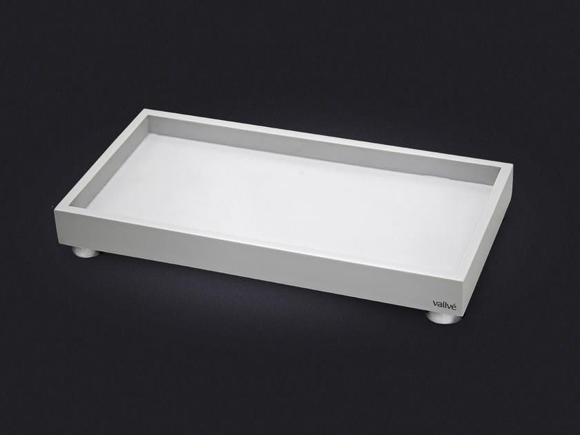 Rectangular resin tray SLIM SMALL by Vallvé