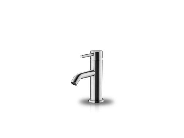 Countertop stainless steel washbasin mixer with pop up waste SLIMLINE PILLAR TAB by JEE-O