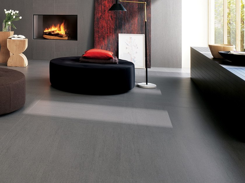 Laminated stoneware wall/floor tiles SLIMTECH BASALTINA STONE PROJECT NATURAL by LEA CERAMICHE