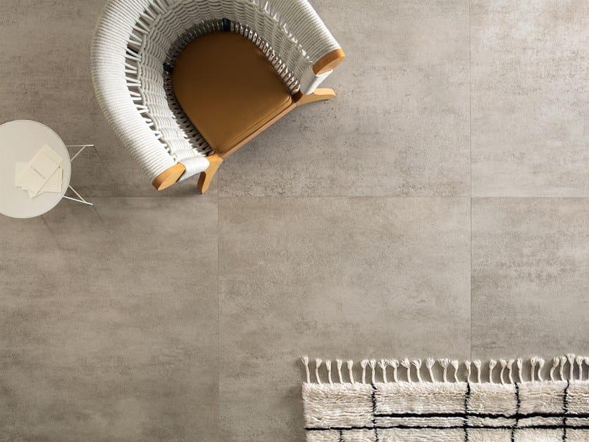 Porcelain stoneware wall/floor tiles with concrete effect SLIMTECH CONCRETO LIGHT by LEA CERAMICHE