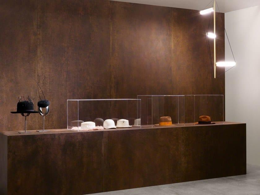 Porcelain stoneware wall/floor tiles with concrete effect SLIMTECH CONCRETO RUST by LEA CERAMICHE