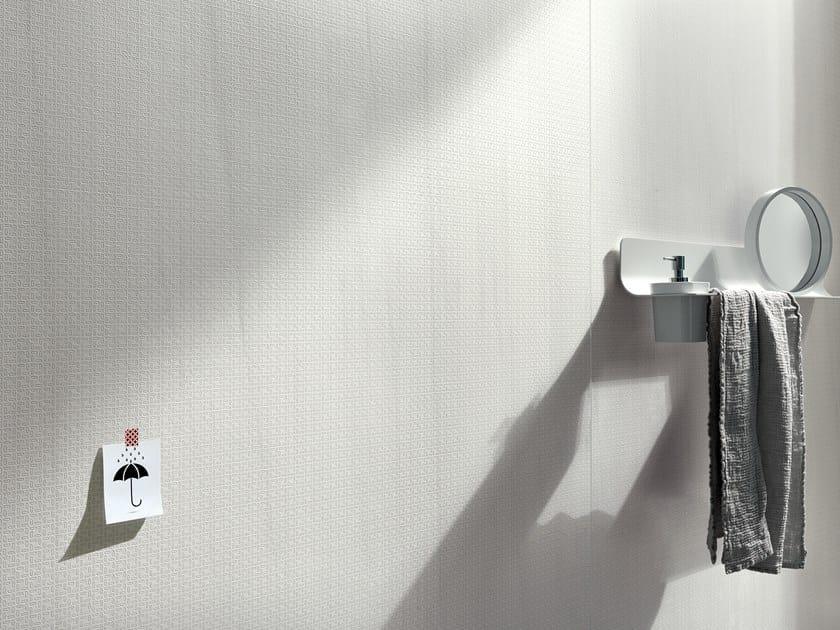 Antibacterial wall/floor tiles with marble effect SLIMTECH FILIGRANE LASA BRIGHT by LEA CERAMICHE