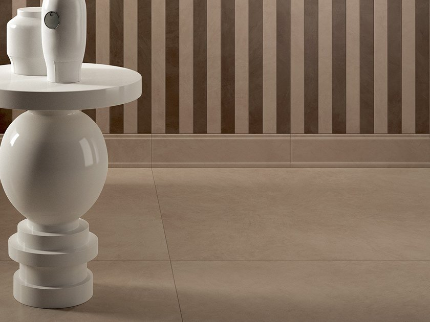 Laminated stoneware wall/floor tiles with resin effect SLIMTECH RE-EVOLUTION SRW030 by LEA CERAMICHE