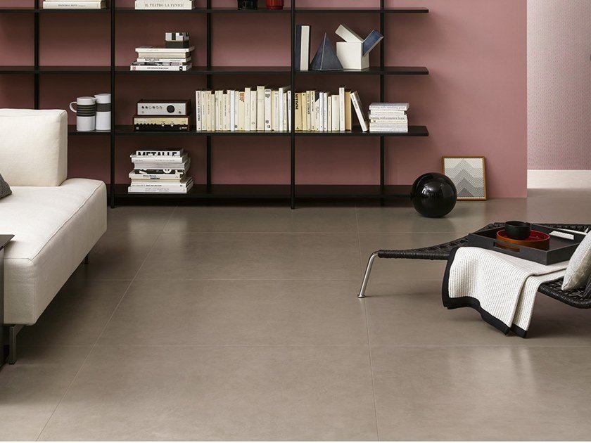 Porcelain stoneware wall/floor tiles with resin effect SLIMTECH TAKE CARE GROUND by LEA CERAMICHE