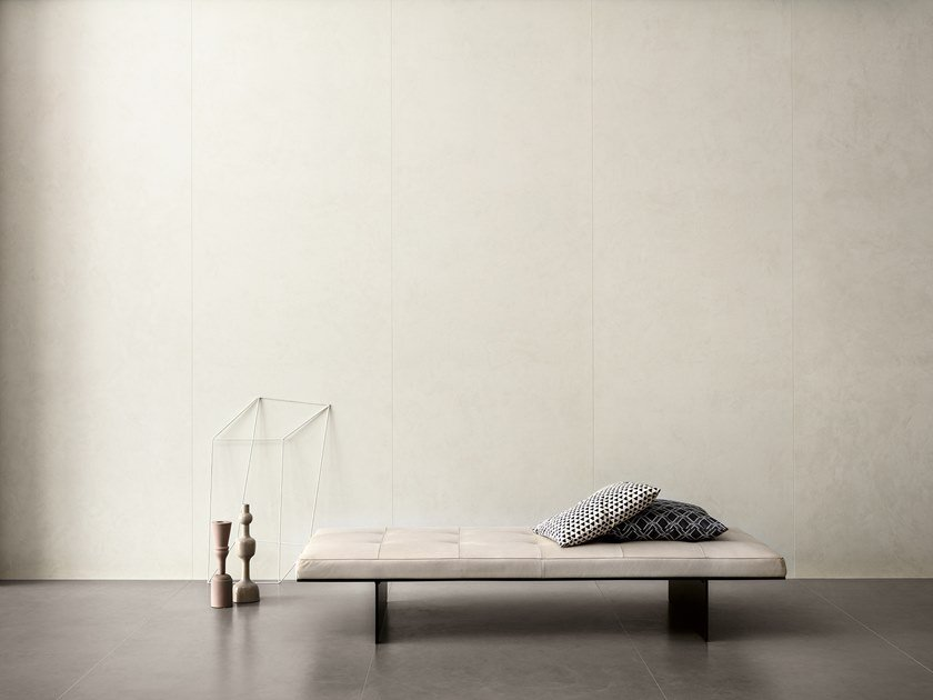 Porcelain stoneware wall/floor tiles with resin effect SLIMTECH TAKE CARE SNOW by LEA CERAMICHE