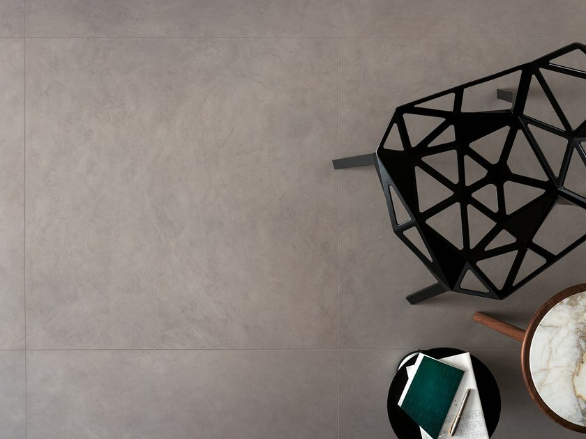 Porcelain stoneware wall/floor tiles with resin effect SLIMTECH TAKE CARE STEEL by LEA CERAMICHE