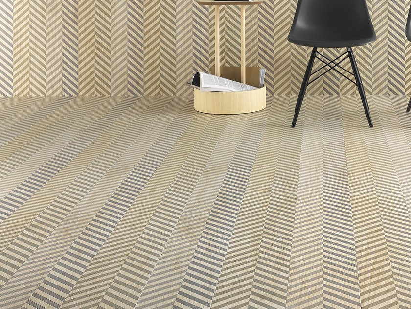 Laminated stoneware wall/floor tiles with wood effect SLIMTECH TYPE 32 SNOW by LEA CERAMICHE