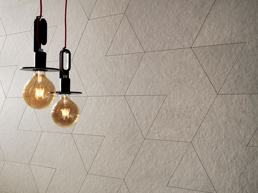 Porcelain stoneware wall/floor tiles with stone effect SLIMTECH WATERFALL IVORY FLOW by LEA CERAMICHE