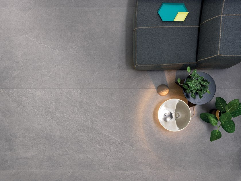 Porcelain stoneware wall/floor tiles with stone effect SLIMTECH WATERFALL SILVER FLOW by LEA CERAMICHE