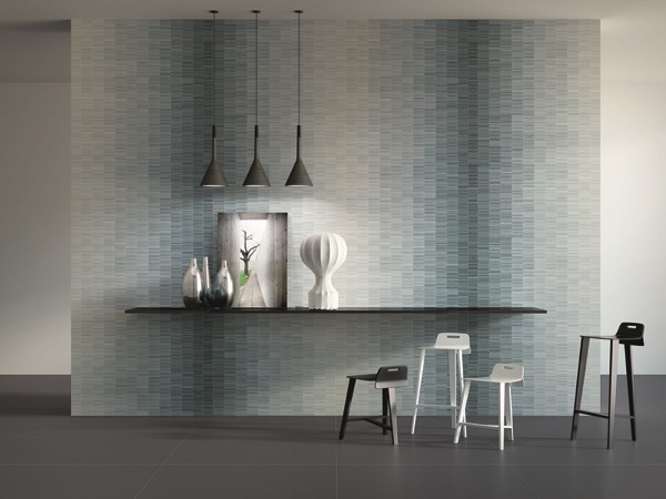Laminated stoneware wall tiles SLIMTECH WAVES by LEA CERAMICHE