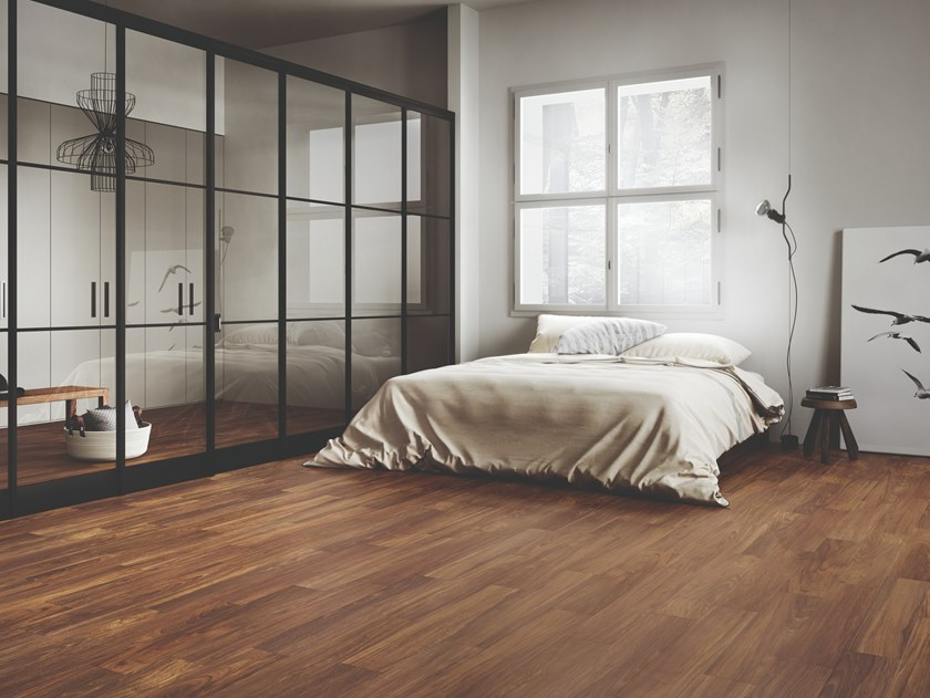Porcelain stoneware wall/floor tiles with wood effect SLLEK WOOD MOHOGANY by EmilCeramica by Emilgroup