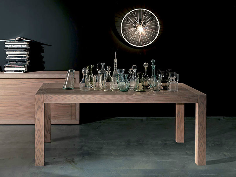 Extending rectangular elm table SLONG by Fimar